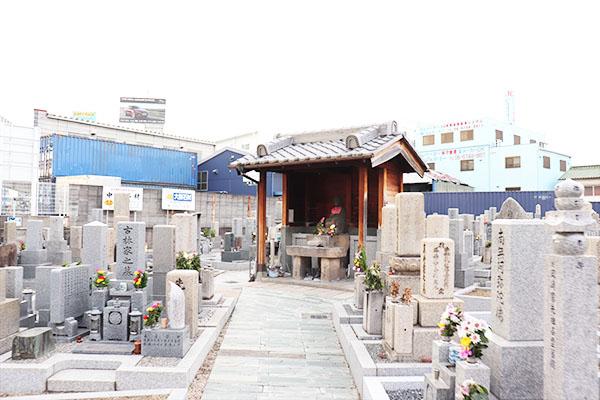 長田西河墓地の管理者情報の写真